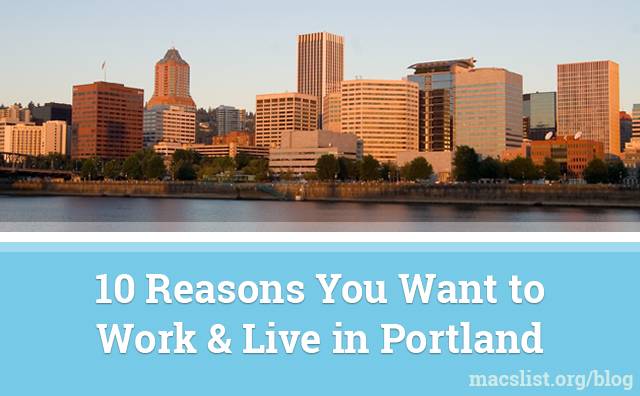 Work and Live in Portland, Oregon