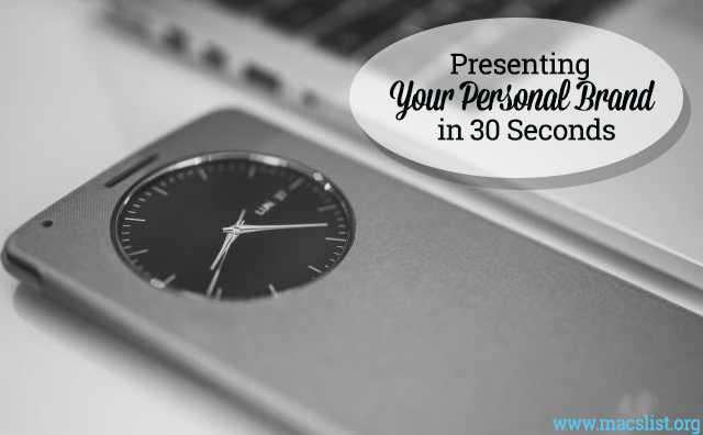 Presenting Your Personal Brand in 30 Seconds