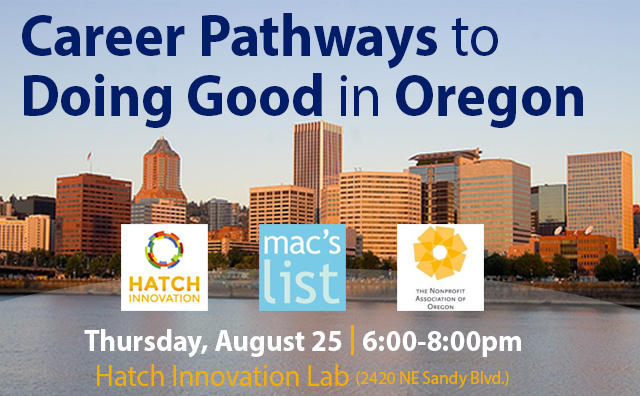 Career Pathways to Doing Good in Oregon