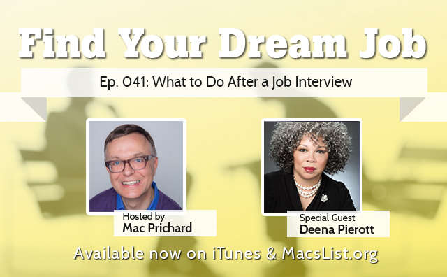 Find Your Dream Job, Ep. 041: What To Do After a Job Interview