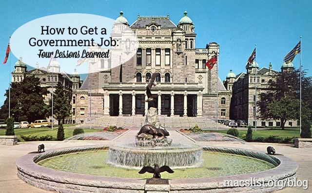 How to Get a Government Job: Four Lessons Learned