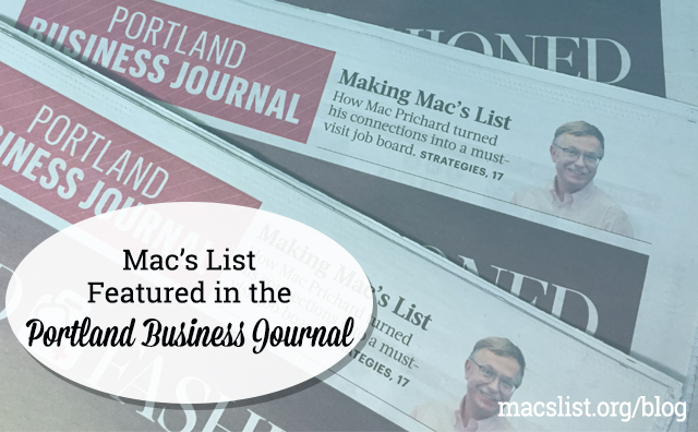 Mac's List Featured in the Portland Business Journal