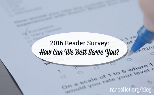 2016 Reader Survey: How Can We Best Serve You?