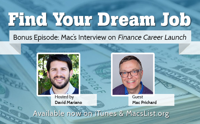 Mac's Interview on Finance Career Launch