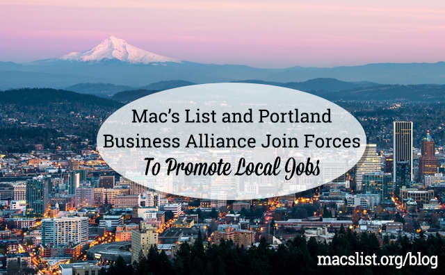 Mac's List and Portland Business Alliance Join Forces to Promote Local Jobs