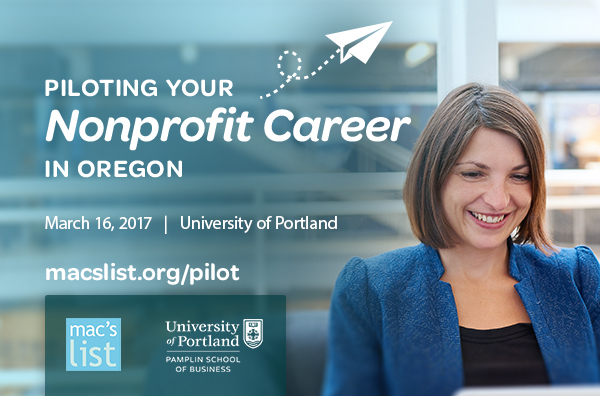 Piloting Your Nonprofit Career in Oregon | March 16 at University of Portland
