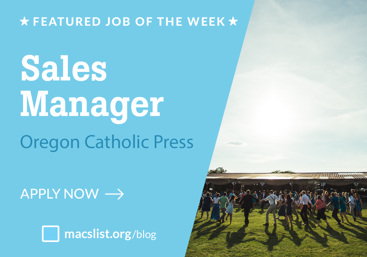 Featured job of the week: Sales Manager, Oregon Catholic Press