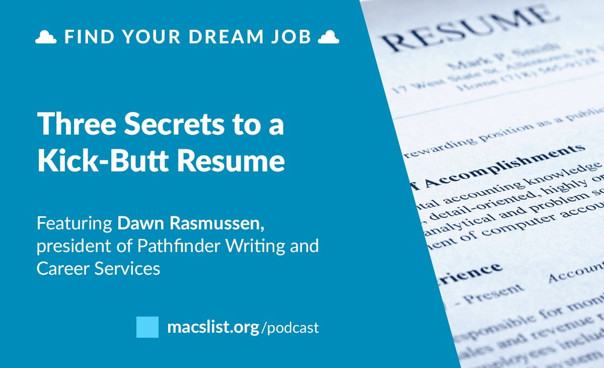 the secret sauce to a perfect resume with dawn rasmussen