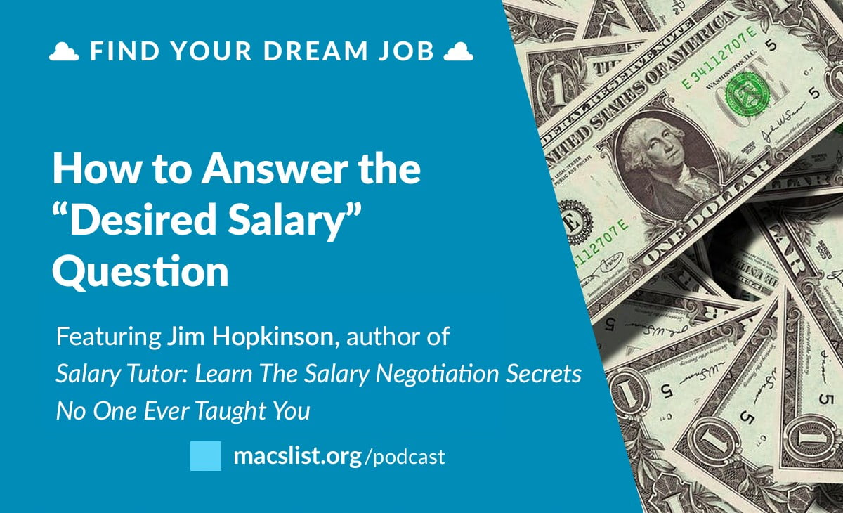 What to Put for Desired Salary, with Jim Hopkinson