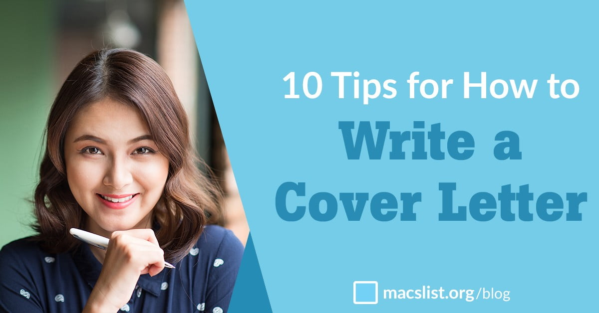 10 Tips For How To Write A Cover Letter