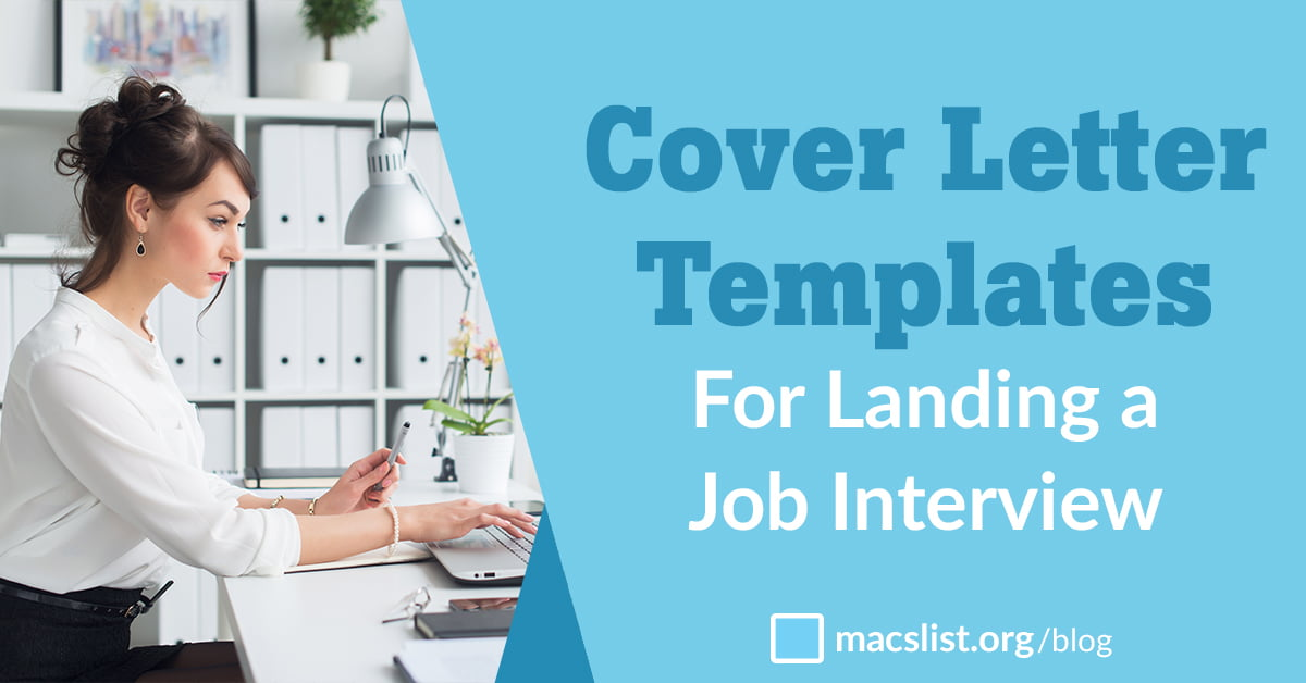 Awesome Cover Letter Templates for Landing an Interview | Mac\'s List