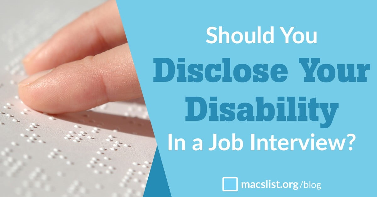 Should You Disclose Your Disability In A Job Interview