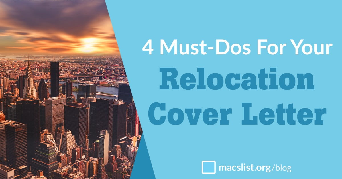 4 Must Dos For Your Relocation Cover Letter