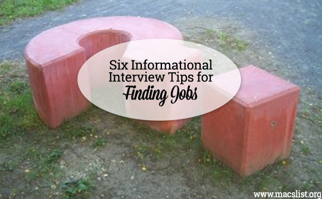 6 Informational Interview Tips for Finding Jobs | Mac Prichard