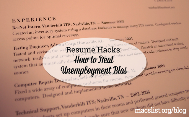 resume hacks how to beat unemployment bias ben forstag
