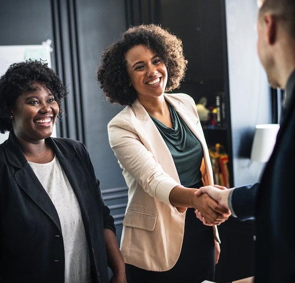 professional woman handshake