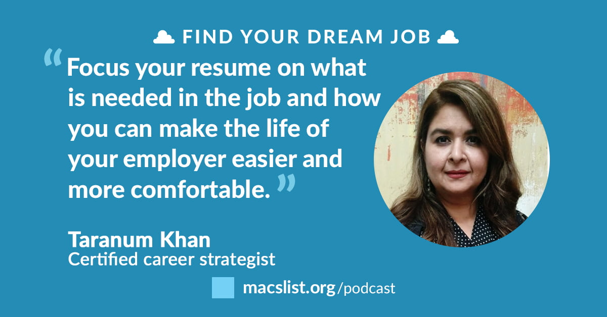 How to Make Your Resume Attractive to Recruiters, with Taranum Khan ...